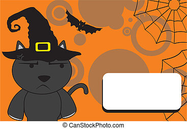halloween invitation black cat6 - halloween invitation black...