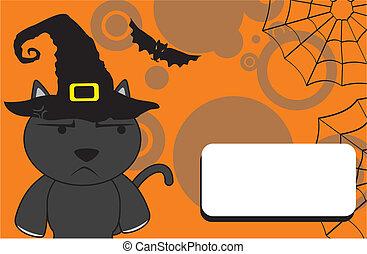 halloween invitation black cat6 - halloween invitation black...