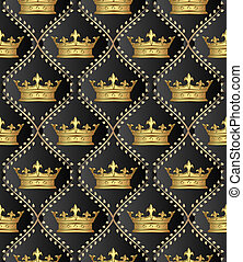 pattern seamless - background with crowns or pattern...