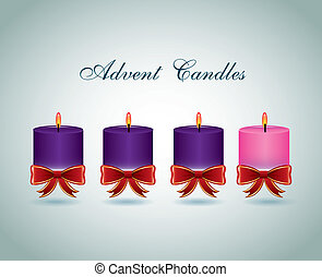 advent candles design - advent candles graphic design ,...