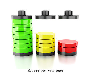 battery icon with colorful charge status - image of battery...