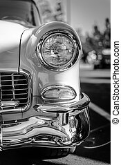 Classic Car Headlight - A shiny headlight of a restored...
