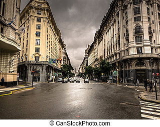 Buenos Aires town Center - Center of town in Buenos Aires...