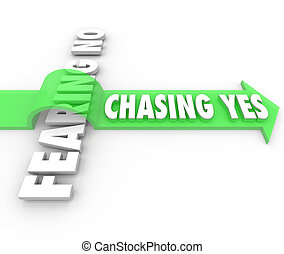 Chasing Yes Fearing No Seeking Approval Sale Customer...