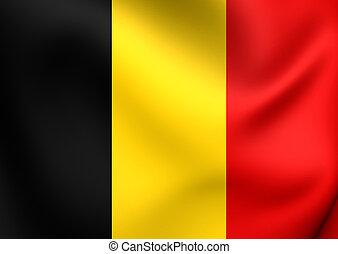 Flag of Belgium Close Up