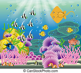 Coral reef - Which is a coral reef fish who is swimming