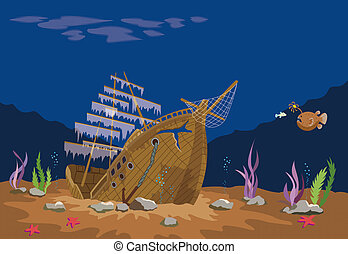 Shipwreck - It is a shipwreck that sank into the sea