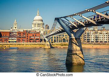 Millennium bridge in London, UK