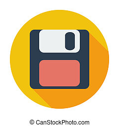 Magnetic floppy disc icon. - Magnetic floppy disc. Single...