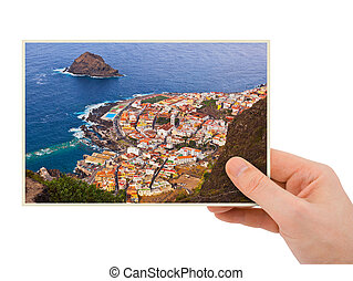Tenerife Canary photography in hand my photo isolated on...