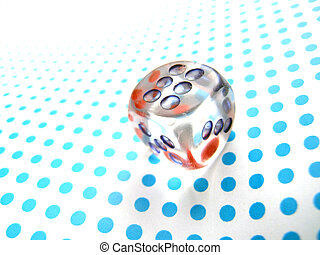 lucky dice  - gamblig dice on doted background