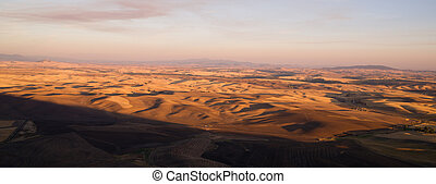 Rolling Hills Palouse Region Eastern Washington State...