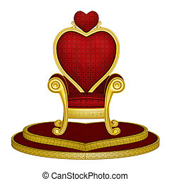 Red Throne of Love - isolated on the white background