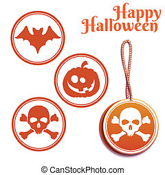 Vector set of Halloween tags