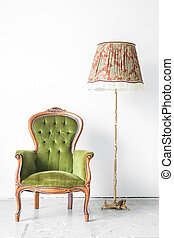Green vintage chair desk lamp - Green classical style...