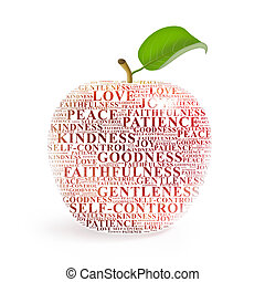 Fruit of the Spirit - Apple representing the fruit of the...