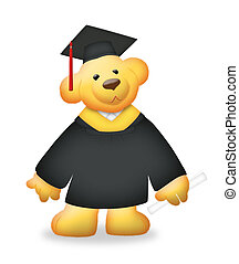 Graduation Bear - Graduation teddy bear wearing toga.