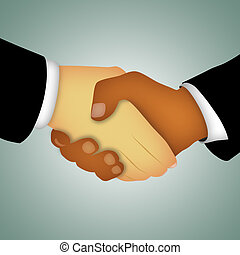 Handshake Abstract - Hands of businessmen shaking in...