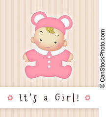It's a Girl! - It's a Girl announcement sign.