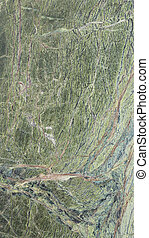 green marble - large slab of solid smooth green marble with...