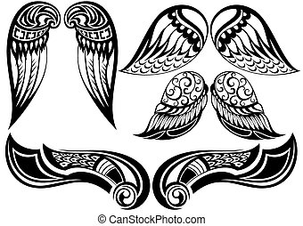 Angel wings - Good set of different tattoo wings