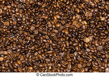 Coffee Beans - coffee beans in a roaster at Granville in...