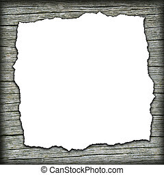 Old wooden background with white center - Old wooden...