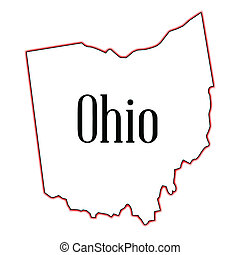 Ohio - Outline map of the state of Ohio