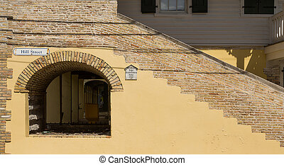 Major Hendrikson Home in St Croix - Steps and arches in an...