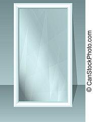 full length mirror in emty room. 10 EPS