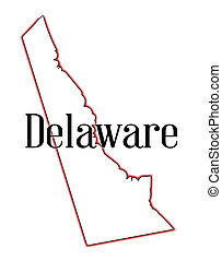 Delaware - Outline map of the state of Delaware