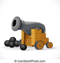 Cannon isolated on a white background
