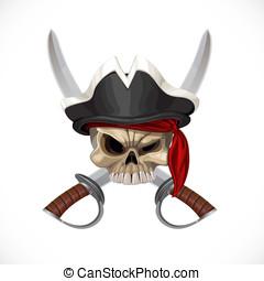 Roger, Wesoły, Szable, kapelusz,  pirat