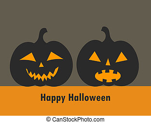 Jack o lantern Halloween pumpkins background Vector...