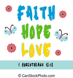 Faith, Hope, Love - Sign for faith, hope, and love