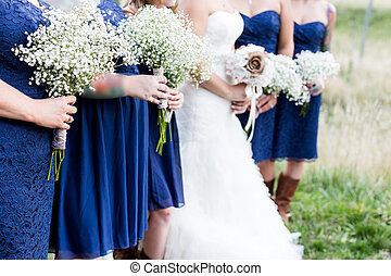 Wedding - Small outdoor wedding in white and blue theme