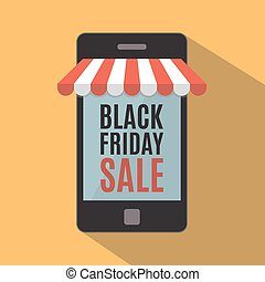 Black friday sale. Mobile phone. Mobile store concept....