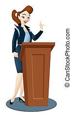 dama, orador