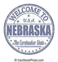Welcome to Nebraska stamp - Welcome to Nebraska grunge...
