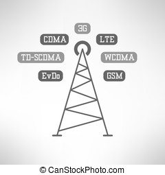Mobile internet tower infographics. Vector - Mobile signal...