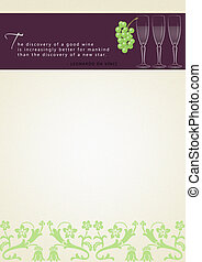 Wine Stationary - Stationary for winery with space for text.