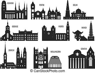 Silhouettes of cities - Silhouettes of cities. Set for you...