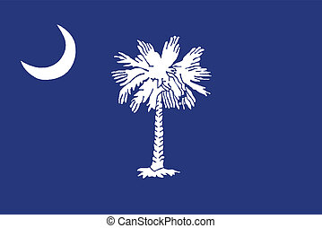 South Carolina State Flag - The flag of the state of South...