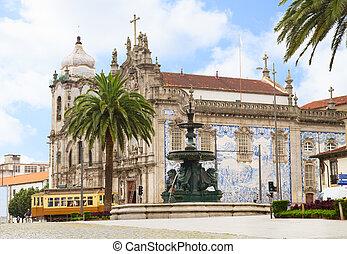 Carmelitas Church and Carmo Church, Porto, Portugal - sqare...