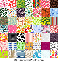 Seamless Pattern 49 of Set Vector Illustration.