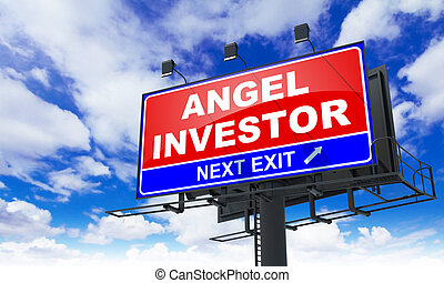 Angel Investor Inscription on Red Billboard - Angel Investor...