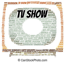 TV show word cloud shape concept