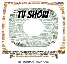 TV show word cloud shape concept