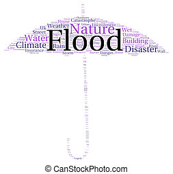 Flood word cloud shape