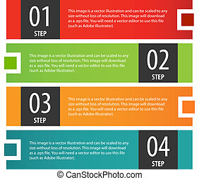 Infographics options banner steps set. - Abstract modern...